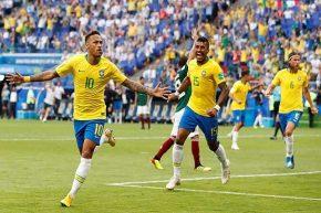 صعود برزیل به یک چهارم نهایی با درخشش نیمار