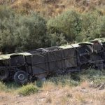 جزئیات واژگونی یک دستگاه اتوبوس در محور کرمانشاه
