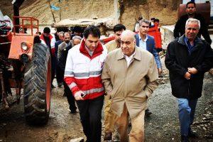 بازدید مهندس بازوند استاندار کرمانشاه از سد آزادی