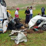 تصادف محور کامیاران – کرمانشاه جان یک نفر را گرفت!