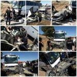 تصادف مرگبار اتوبوس با وانت پیکان ، پژو ۴۰۵ و پژو پارس در محور اسلام آباد_گیلانغرب