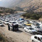 ترافیک سنگین در محور قصرشیرین به مرز خسروی + تصاویر