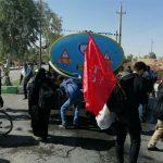 آب آشامیدنی زائران در مرز خسروی و منظریه عراق تأمین شد + تصاویر