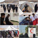 اسکان اضطراری ۱۲هزار نفری زائران در مرز خسروی توسط هلال احمر
