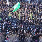 خروش شهر شهیدان مرصاد در اجتماع عظیم سلیمانی های اسلام آبادغرب+تصاویر
