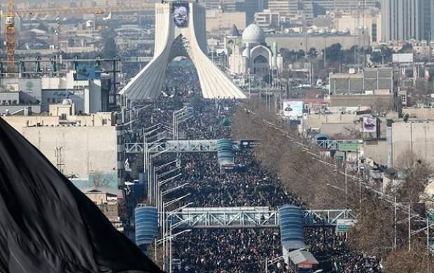 خروش پایتخت در مراسم تشییع سردار دلها