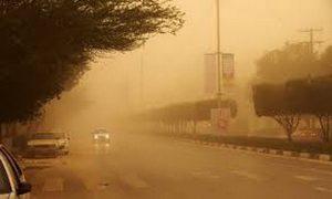 ذرات گرد و غبار دید افقی در برخی شهرستانهای استان کرمانشاه را به کمتر از ۲۰۰ متر رساند