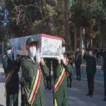 تشییع و خاکسپاری پیکر شهید خیرالله گرامی ابریشمی در اسلام ابادغرب