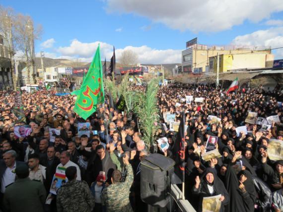 خروش شهر شهیدان مرصاد در اجتماع عظیم سلیمانی های اسلام آبادغرب